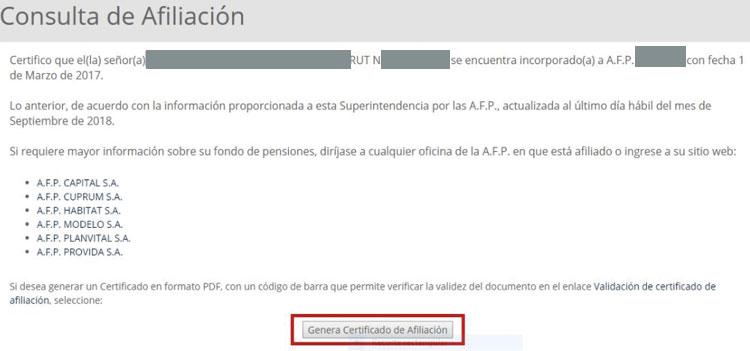 Cómo descargar el certificado AFP
